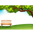 A chair near the tree vector image