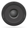 acoustic speaker 01 vector image