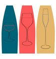 glass and bottle vector image