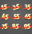 Different digits with ribbons Sale banner template vector image vector image