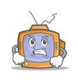 angry tv character cartoon object vector image