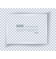 Frame on blank sheet of paper vector image