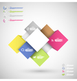 Infographic colorful cubes for data presentation vector image