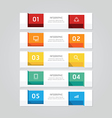 Infographics design geometric template banner vector image