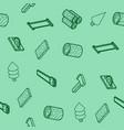 lumberjack flat outline isometric pattern vector image