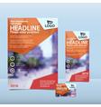 Orange brochure flyer and card design vector image