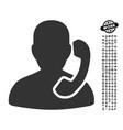 Reception icon with professional bonus vector image