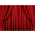 Red theater heavy curtain background vector image vector image