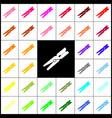 clothes peg sign  felt-pen 33 colorful vector image