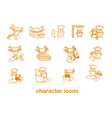 character site icons vector image