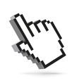 hand arrow cursor isolated on white vector image