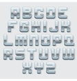 Chrome Metallic Font Set vector image vector image