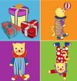 circus cat vector image