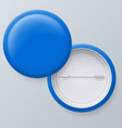 Blank blue badges vector image vector image