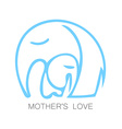 mom love logo vector image vector image