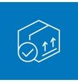 Carton package box line icon vector image