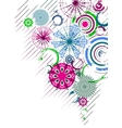 multicolor circles abstract vector image