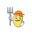 farmer mango character cartoon mascot vector image