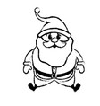 figure santa claus with christmas suit and beard vector image