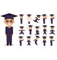 graduation cap excellent diploma certificate vector image