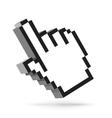 hand arrow cursor isolated on white vector image