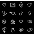 line love icon set vector image