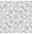 monochrome seamless pattern with mosaic floral vector image