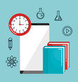 online education set icons vector image