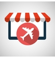e-commerce virtual shop travel airplane icon vector image
