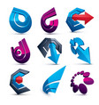 dimensional business and corporate graphic vector image vector image