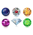 Colored gems vector image vector image