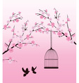 dove love cage vector image