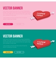 Set of 2 love banners for web development vector image