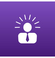 icon suggestion idea concept lightbulb people vector image