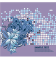 retro floral background with stars vector image vector image