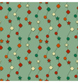 seamless christmas wrapping paper vector image vector image