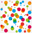 Abstract background scheme of social network vector image