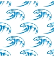 Curling sea waves seamless pattern vector image