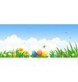 Easter banner vector image
