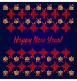 Happy new year card snowflakes on blue background vector image