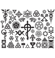 Medieval Occult Signs And Magic Stamps vector image