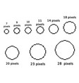 pixel circles set 9 pixel round template vector image