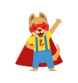 Puppy Animal Dressed As Superhero With A Cape vector image