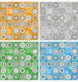 set of modern backgrounds with circles vector image