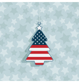 Usa christmas decoration vector image
