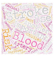 So You ve Had a Stroke Now What text background vector image