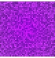 Abstract violet pixel mosaic seamless background vector image vector image