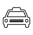 taxi line icon cab outline sign pictogram vector image vector image