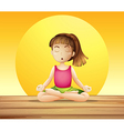 A young lady doing yoga vector image