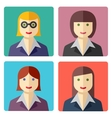 Flat colorful businesswoman avatar icons vector image